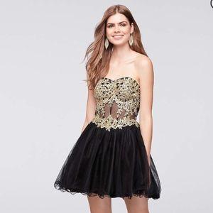 Blondie Nites Corset Homecoming Dress black/gold